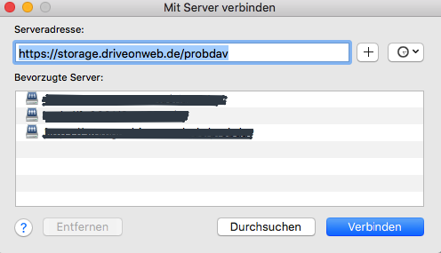 DriveOnWeb im Finder auf macOS einbinden
