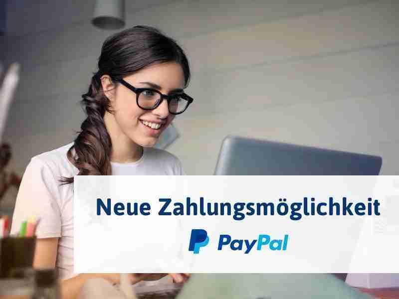 NEU: Zahlung per Paypal