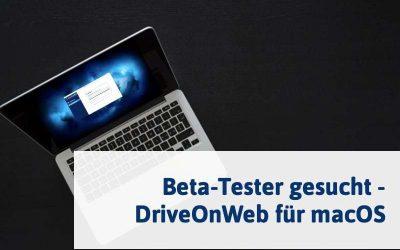 Testen Sie als Erster DriveOnWeb auf macOS